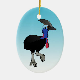 Southern Cassowary Christmas Ornament