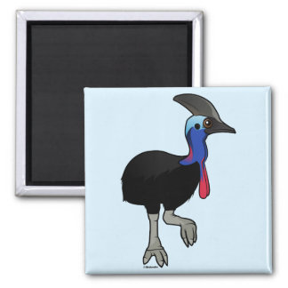 Southern Cassowary Square Magnet