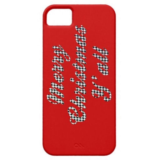 Southern Christmas Greeting Houndstooth iPhone 5 Cover