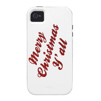 Southern Christmas Greeting Houndstooth iPhone 4 Case