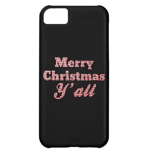 Southern Christmas Greeting Houndstooth Cover For iPhone 5C