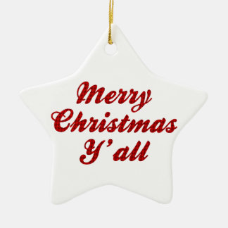 Southern Christmas Greeting Houndstooth Christmas Ornament
