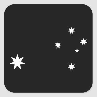 Southern Cross and Commonwealth Star Square Sticker