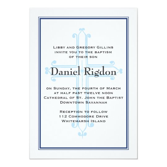 Southern Cross- Navy Blue Baptism/Communion Invite