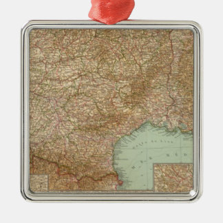 Southern France 3536 Square Metal Christmas Ornament