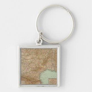 Southern France 3536 Silver-Colored Square Key Ring