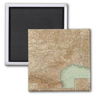 Southern France 3536 Square Magnet