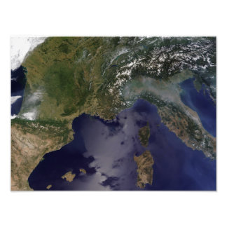 Southern France and Northern Italy Photo Print