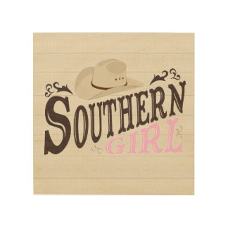 Southern Girl Wood Print