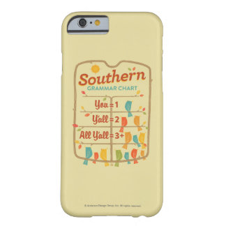 Southern Grammar Chart Barely There iPhone 6 Case