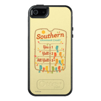 Southern Grammar Chart OtterBox iPhone 5/5s/SE Case