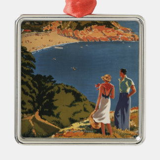 Southern/Great Western Rail Couple on Cliff Christmas Ornament