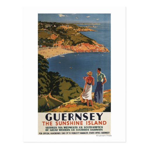 Southern/Great Western Rail Couple on Cliff Postcards
