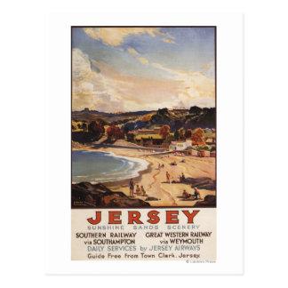 Southern/Great Western Railway Beach Scene Postcard