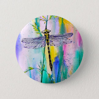 Southern Hawker Dragonfly 6 Cm Round Badge