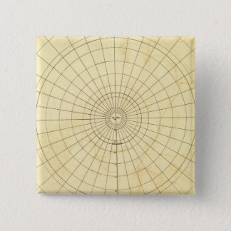 Southern Hemisphere Outline 15 Cm Square Badge