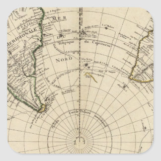 Southern Hemisphere Square Sticker