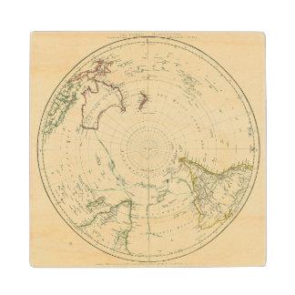 Southern Hemisphere Wood Coaster