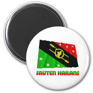 Southern Highlands Province Waving Flag 6 Cm Round Magnet