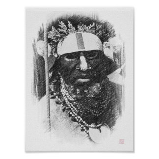Southern Highlands Warrior - Papua New Guinea Poster