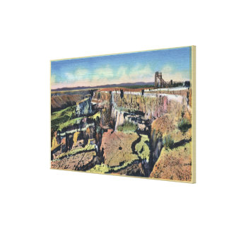 Southern Idaho - Famous Sinking Farm in Salmon Canvas Print