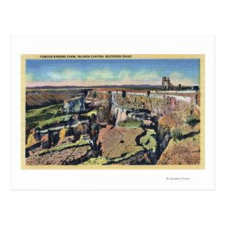 Southern Idaho - Famous Sinking Farm in Salmon Postcard