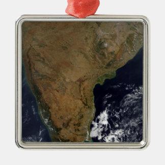 Southern India Silver-Colored Square Decoration
