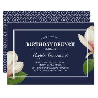 Southern Magnolia Birthday Brunch Blue Card