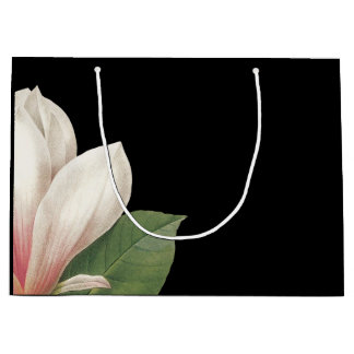 Southern Magnolia Flower | Pink White Black Large Gift Bag