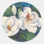 Southern Magnolias Round Stickers