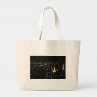 Southern Manhattan s East Side at Night 001 Tote Bags