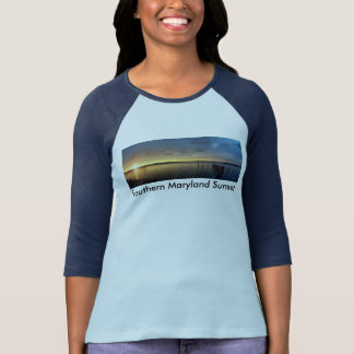 Southern Maryland Sunset (1) T-Shirt W/ColorSleeve