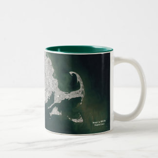 Southern New England Satellite View Two-Tone Coffee Mug