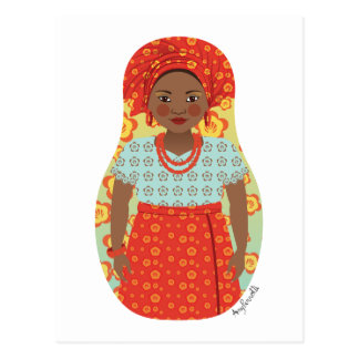 Southern Nigerian Matryoshka Postcard