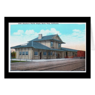 Southern Pacific Depot, Santa Rosa Vintage Greeting Card