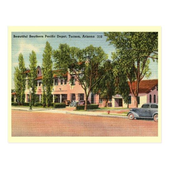 Southern Pacific Depot, Tucson, AZ Vintage Postcard