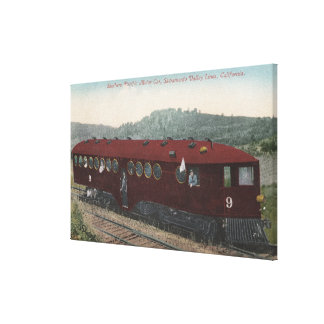 Southern Pacific Motor Car Canvas Print