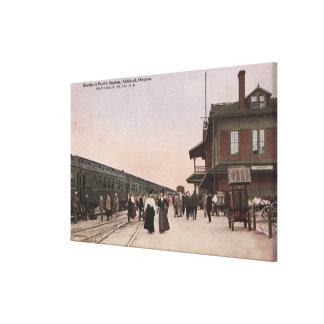 Southern Pacific Railroad Station Canvas Print