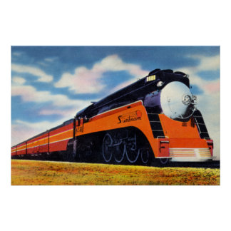"Southern Pacific Streamlined Train ""Sunbeam"" Poster"