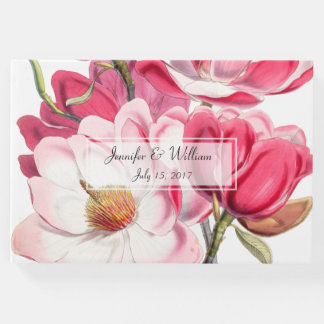 Southern Pink Magnolias Wedding Guest Book