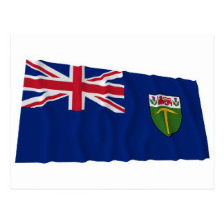 Southern Rhodesia Waving Flag (1923-1953) Postcard