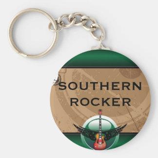 Southern Rocker Key Ring Basic Round Button Key Ring