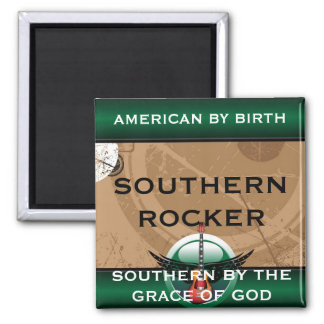 Southern Rocker Square Magnet