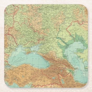 Southern Russia Square Paper Coaster