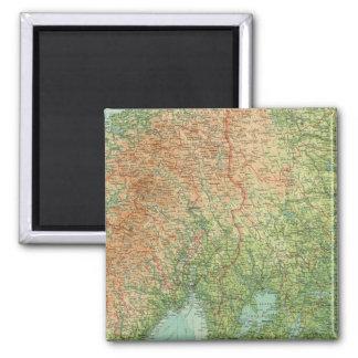 Southern Scandinavia & Denmark Square Magnet