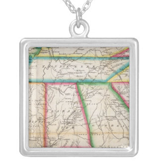Southern Section of the United States Silver Plated Necklace