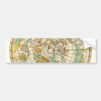 Southern Sky Star Chart and Constellations Map Bumper Sticker