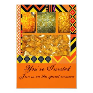 Southern Soul Food,Chicken,greens,mac &chesse,c... 13 Cm X 18 Cm Invitation Card