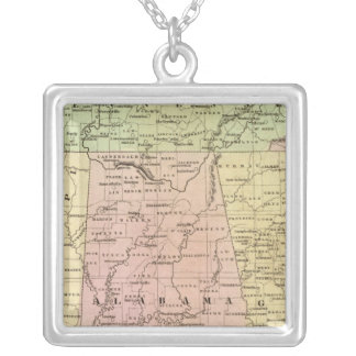Southern States Olney Map Silver Plated Necklace