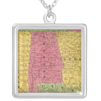 Southern States, USA Silver Plated Necklace